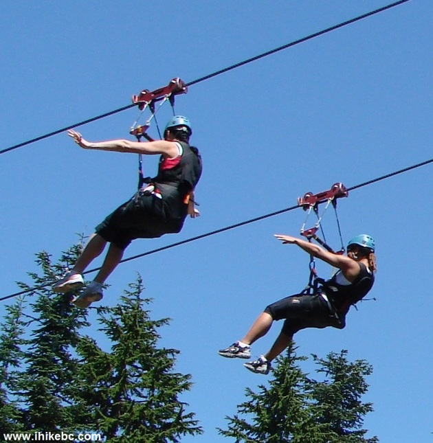 Zip Liners On Grouse Mountain